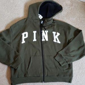 NWT PINK Victoria Secret Hoodie XL
